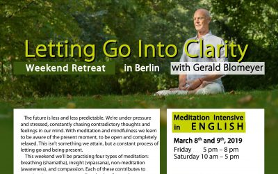 Letting Go Into Clarity – a meditation intensive in English, Berlin, March 8+9 2019